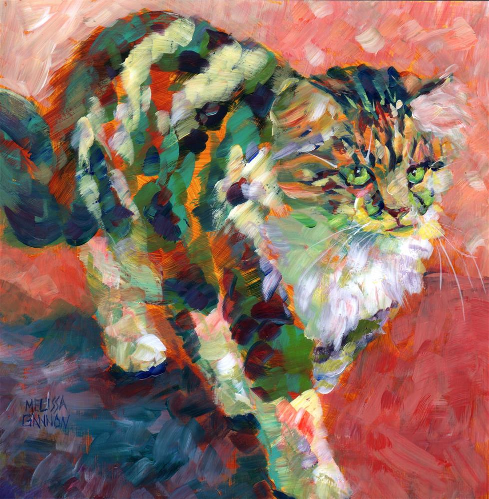 """Kitty Perfection"" original fine art by Melissa Gannon"