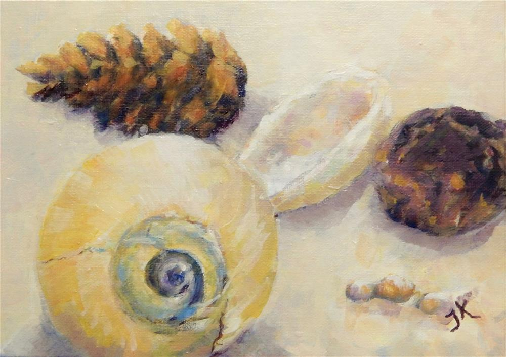 """""""Combed from the Beach"""" original fine art by J Kelsey"""
