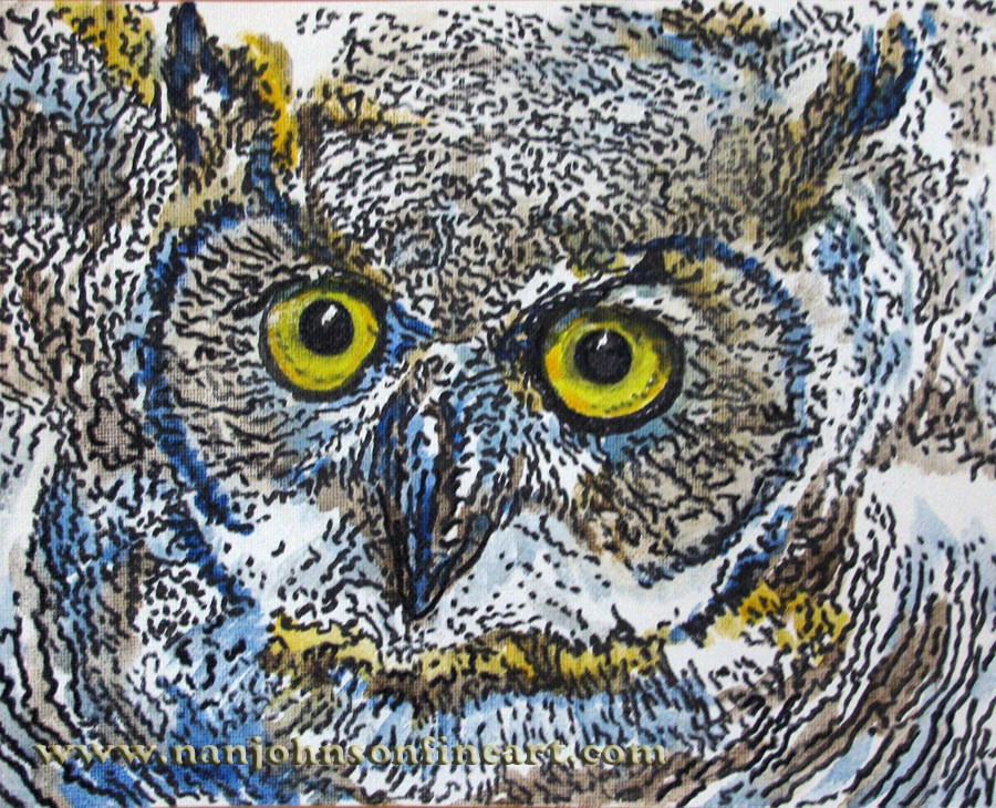 """""""Wide Open Eyes"""" original fine art by Nan Johnson"""