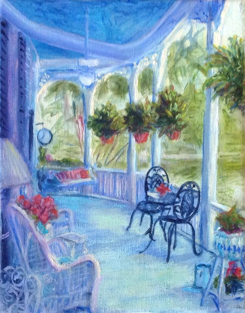 """Southern porch"" original fine art by barbara yongue"