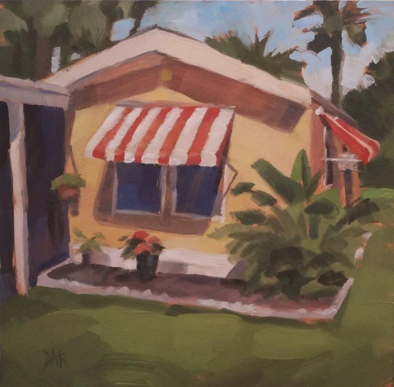 """Yellow Slice Of Paradise"" original fine art by Deborah Ann Kirkeeide"