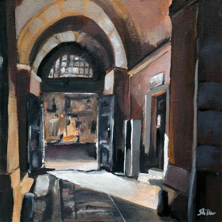"""1527 The Gate"" original fine art by Dietmar Stiller"
