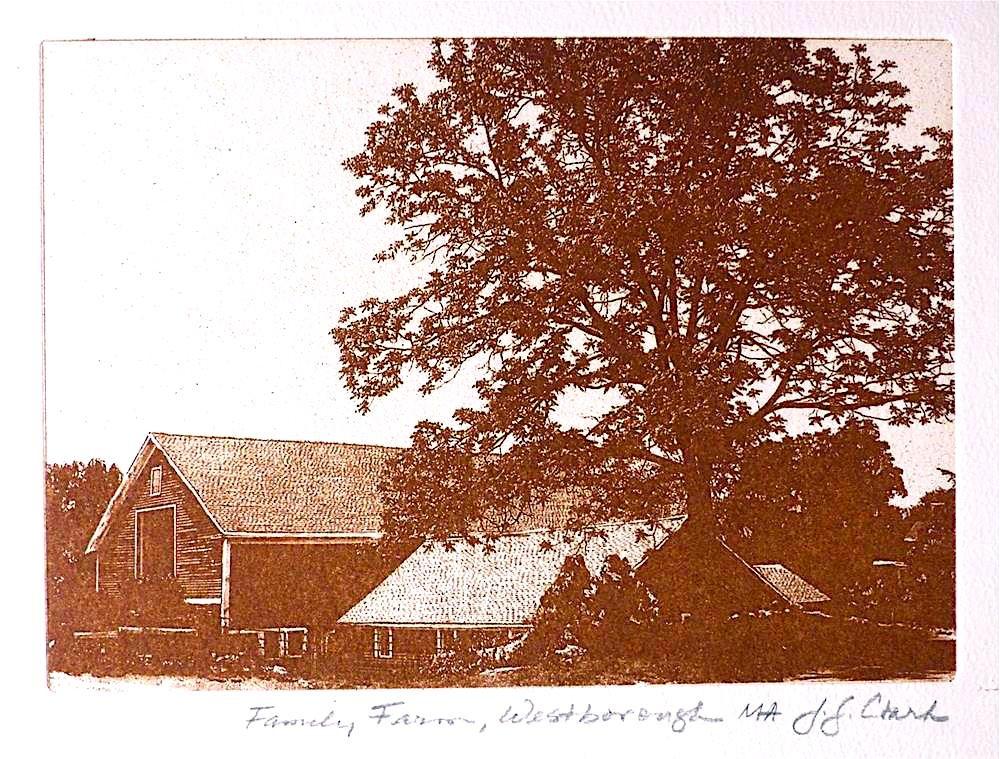 """Family Farm, Westborough, MA"" original fine art by Judith Freeman Clark"