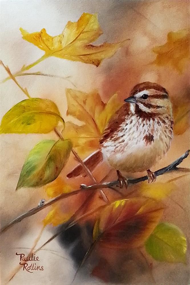 """Leaf Study"" original fine art by Paulie Rollins"