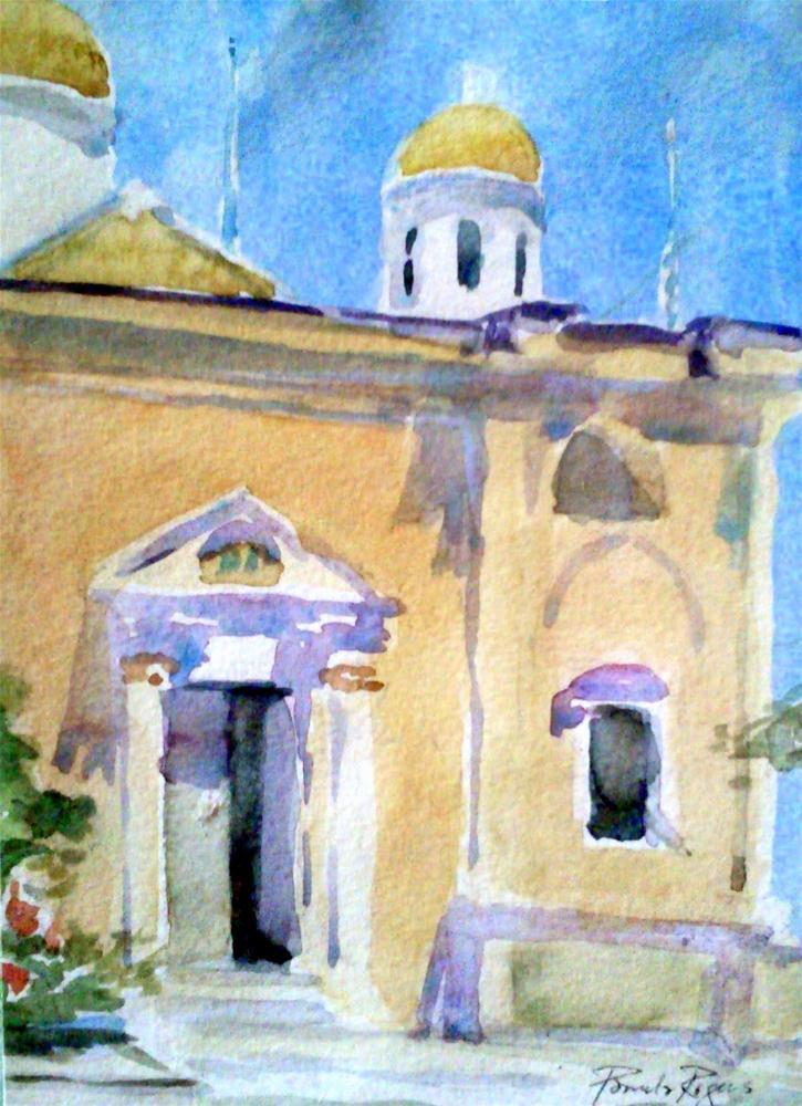 """""""In Agia Triada, Crete"""" original fine art by Pamela Jane Rogers"""