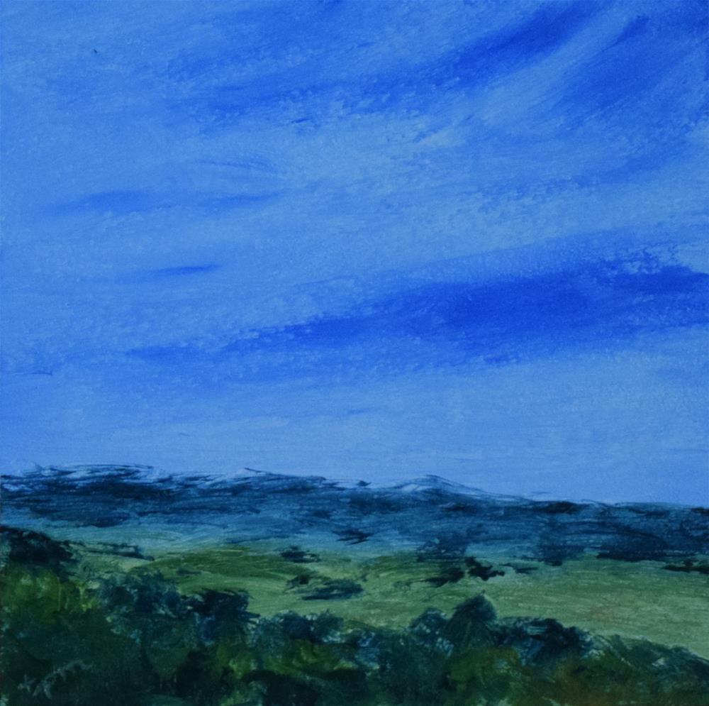 """""""Crockett Hills, Mini Study"""" original fine art by Tisha Mark"""