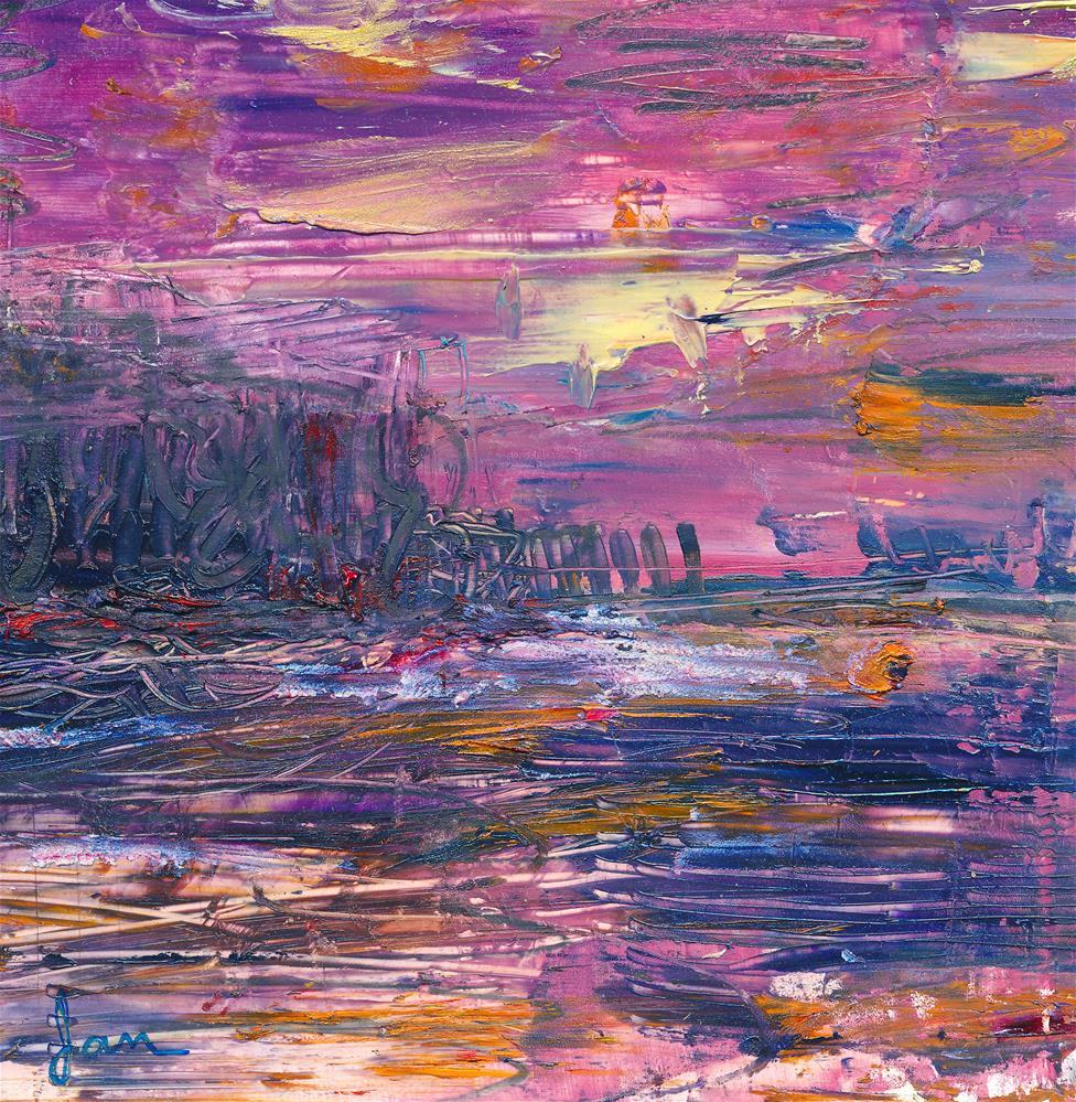 """Violeta{mini}"" original fine art by Janet Gunderson"