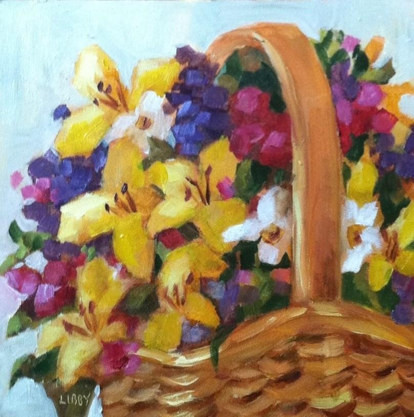 """Primary Basket"" original fine art by Libby Anderson"