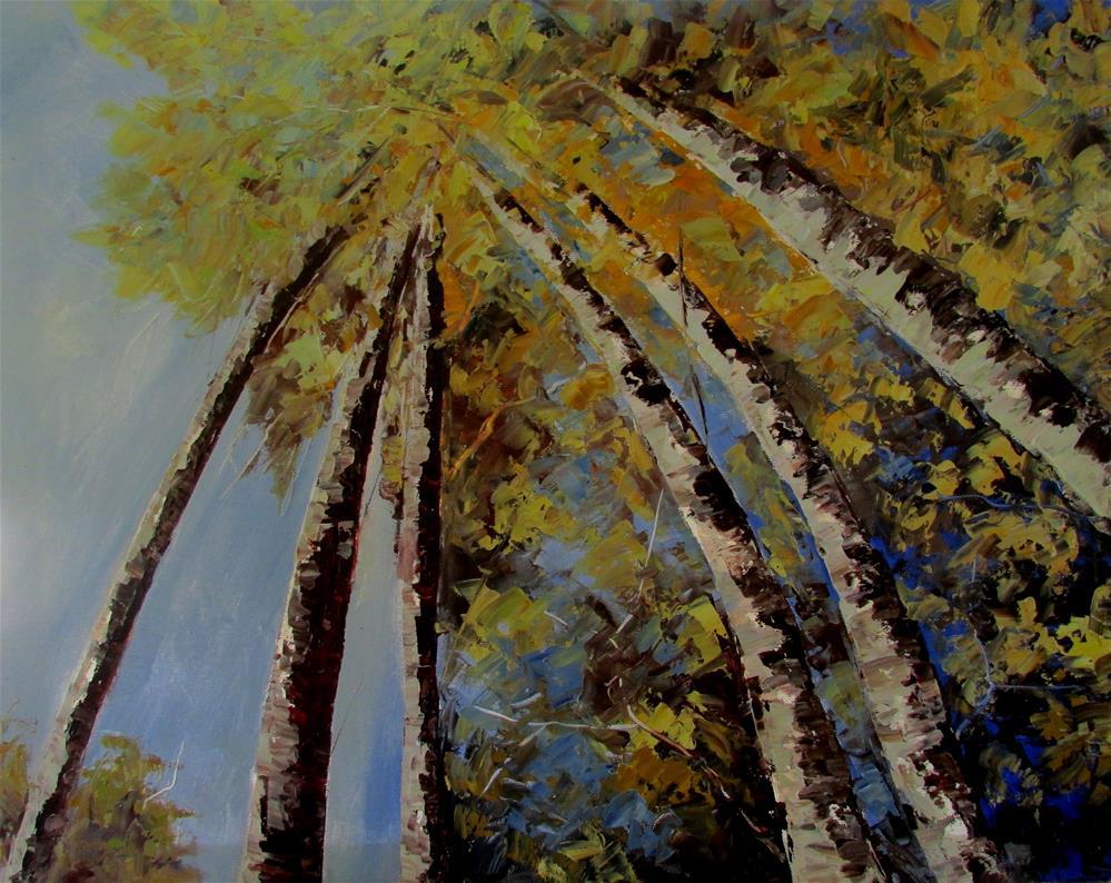 """16 x 20 inch oil Look Way up #4"" original fine art by Linda Yurgensen"
