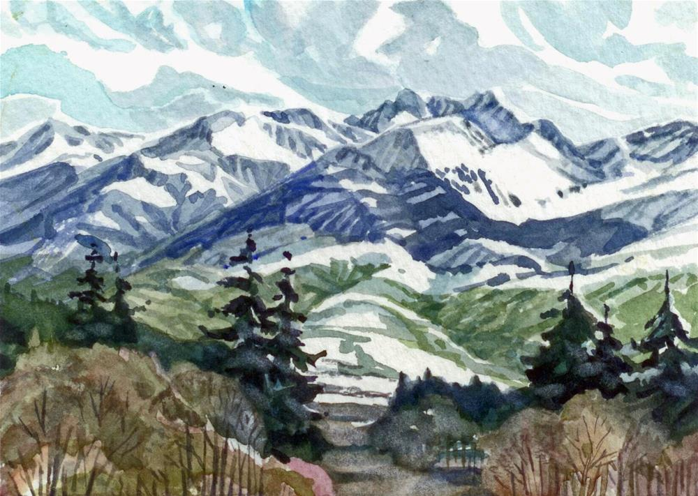 """Looking across the Valley"" original fine art by Nicoletta Baumeister"