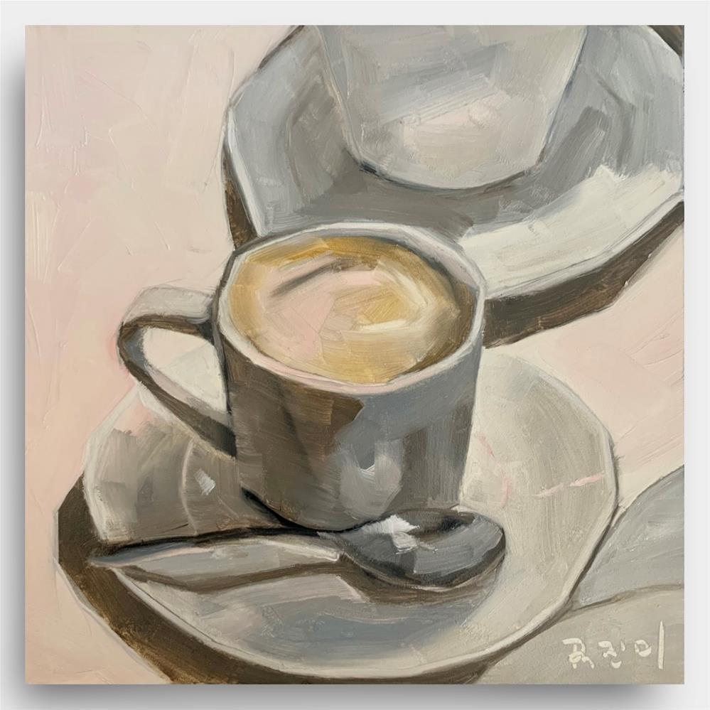"""untitled844 Espresso Goodness"" original fine art by Jenny Doh"