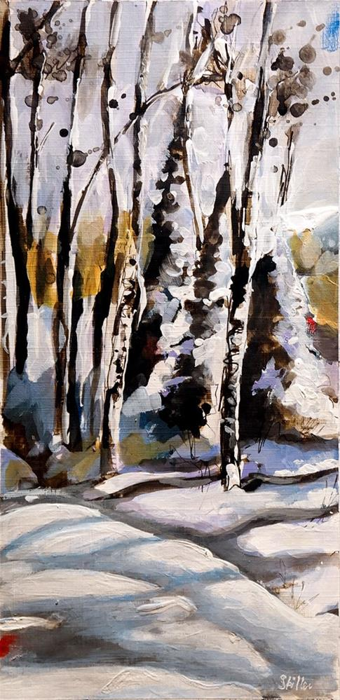 """2674 Winterscape 1"" original fine art by Dietmar Stiller"