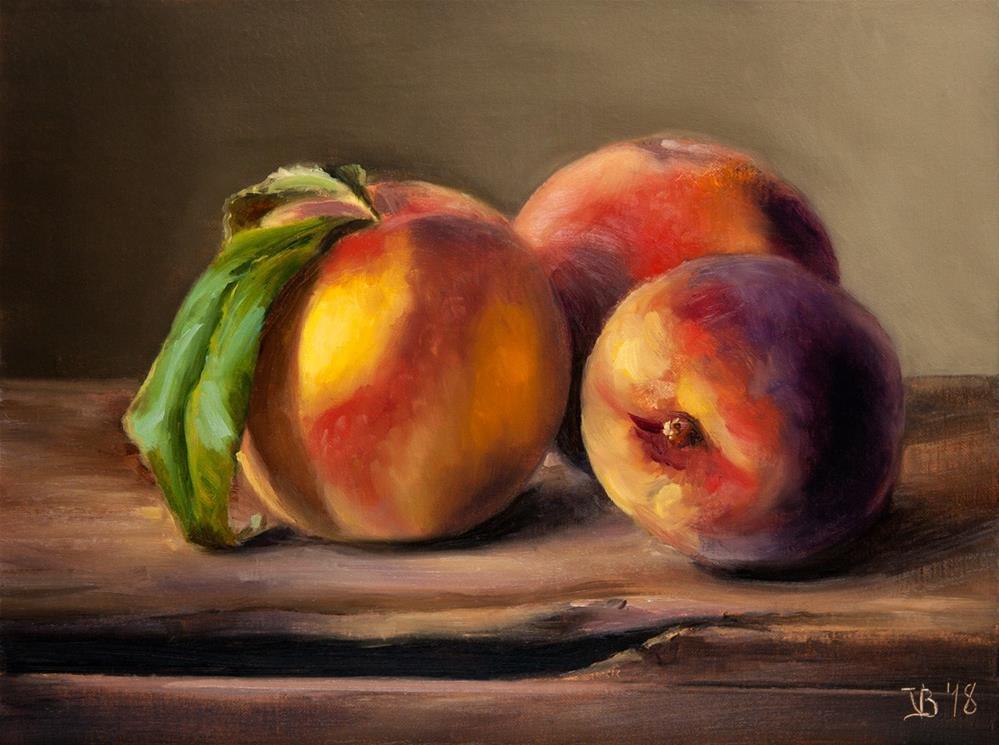 """""""Local Peaches"""" original fine art by Vitaly Borisenko"""