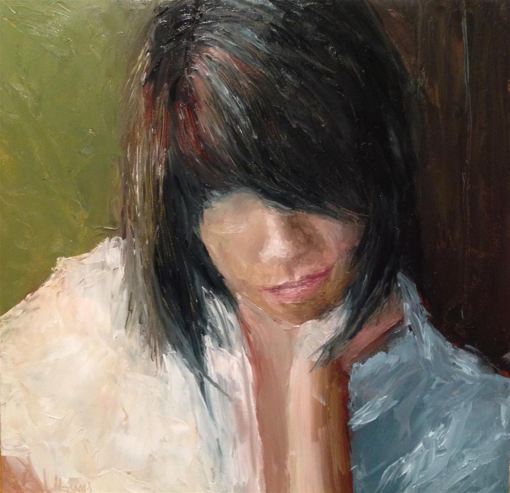 """Contemplating..."" original fine art by Lori L. Lamb"