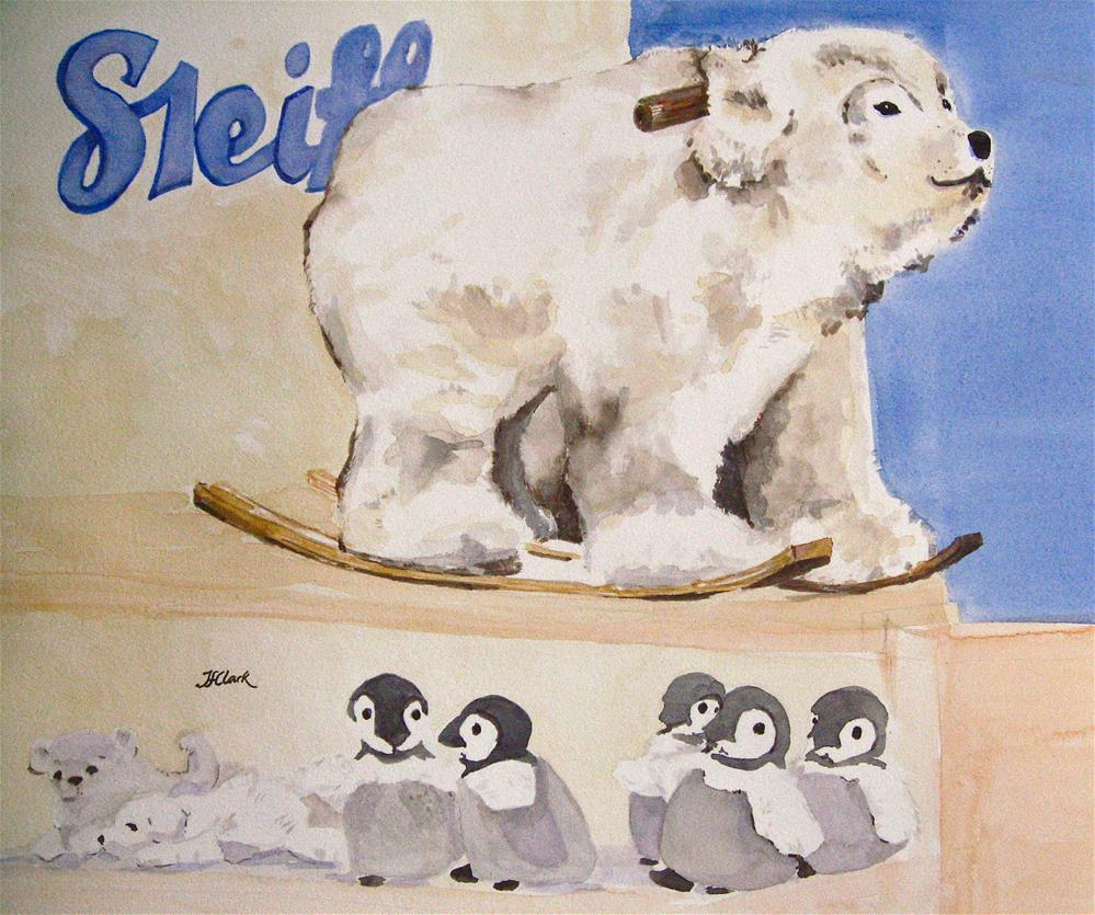"""Stuffed"" original fine art by Judith Freeman Clark"