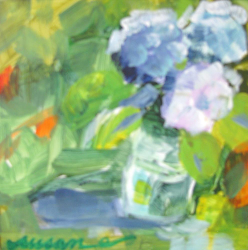 """Summer Flowers"" original fine art by Susan Elizabeth Jones"