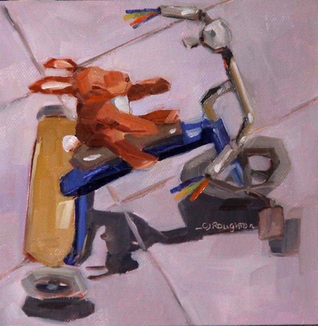"""""""'Wheels' owned by Max NFS"""" original fine art by C J Roughton"""