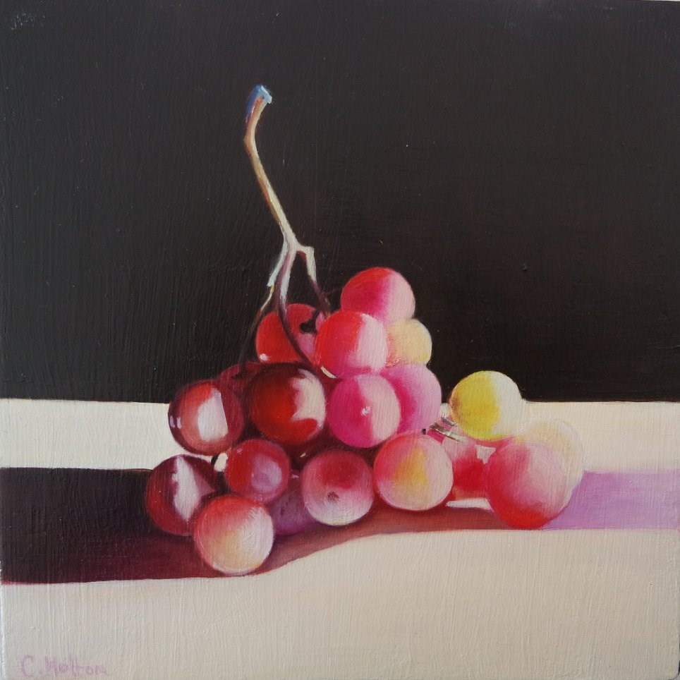"""Grapes in the Sunlight"" original fine art by Cathy Holtom"