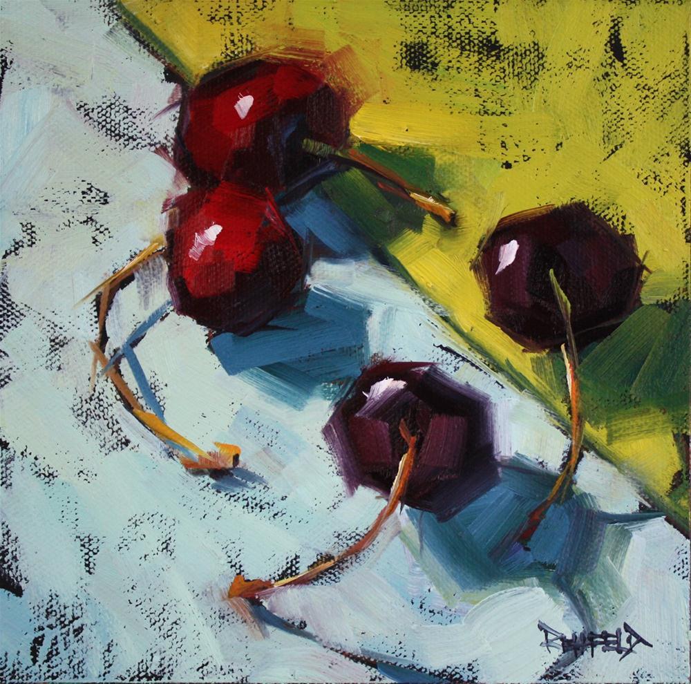 """Cherry Season in Oregon"" original fine art by Cathleen Rehfeld"