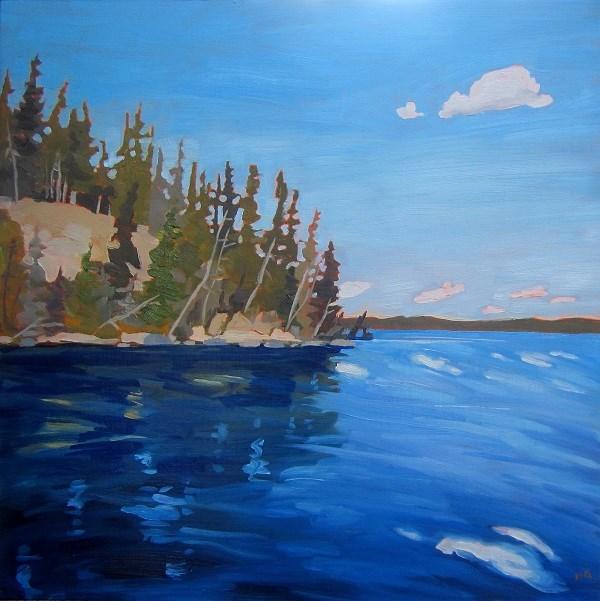 """East End, King's Island, Waskesiu"" original fine art by Nicki Ault"