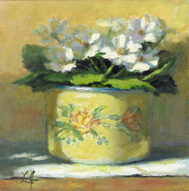 """Violets"" original fine art by Linda Jacobus"