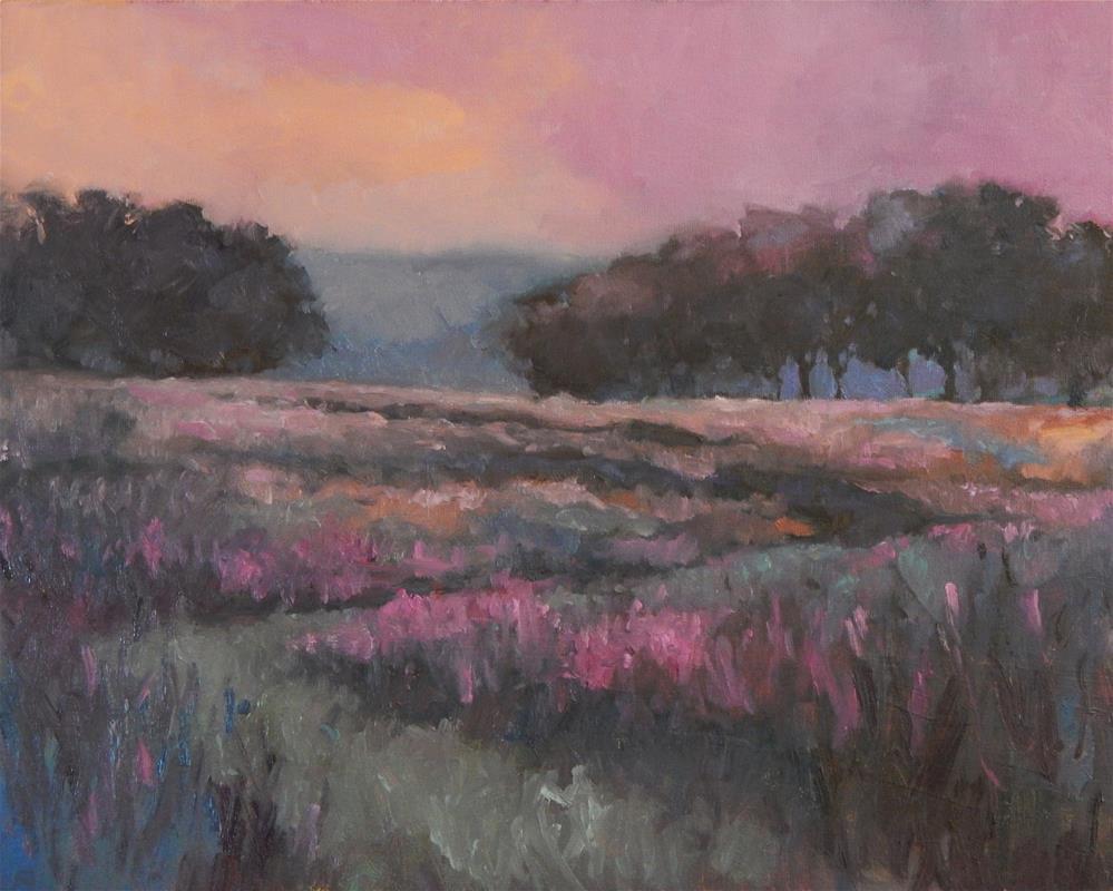 """""""Sunrise Through Fog"""" original fine art by Lisa Kyle"""