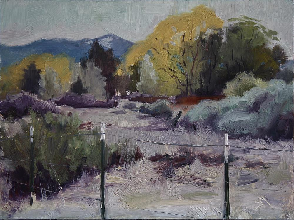 """Overcast in Taos"" original fine art by Sheila Marie"