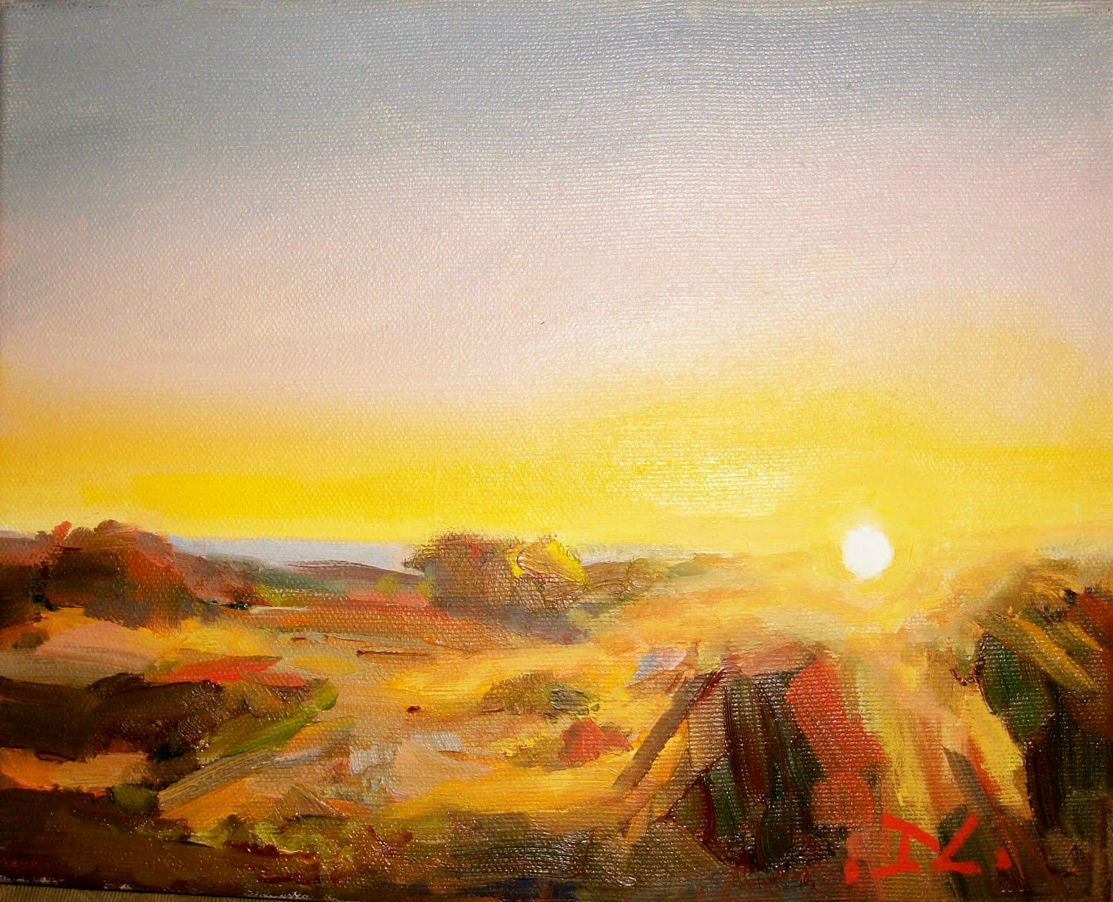 """""""SUNSET #101"""" original fine art by Doug Carter"""