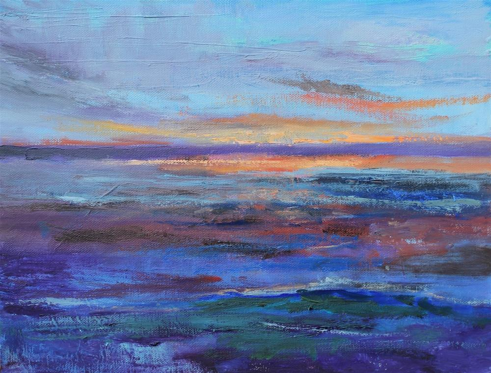 """""""Somewhere in Oregon, Abstract Seascape Paintings by Amy Whitehouse"""" original fine art by Amy Whitehouse"""
