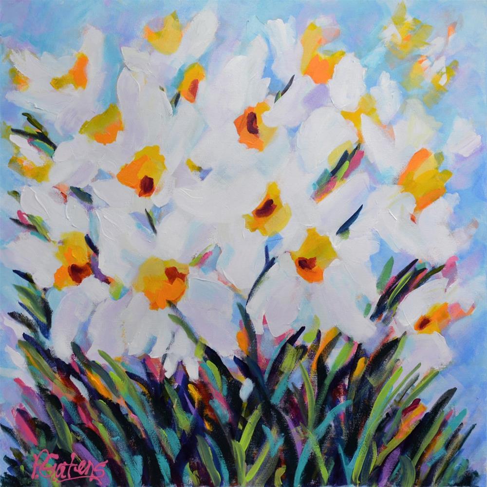 """Daffodils for Debbie"" original fine art by Pamela Gatens"