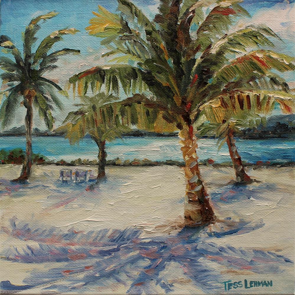 """Punta Cana Trees"" original fine art by Tess Lehman"