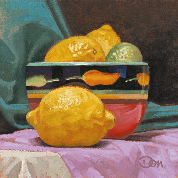 """""""Limones"""" original fine art by Don Stewart"""