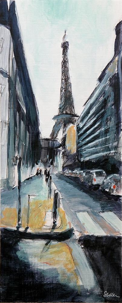 """2044 La Tour Eiffel"" original fine art by Dietmar Stiller"