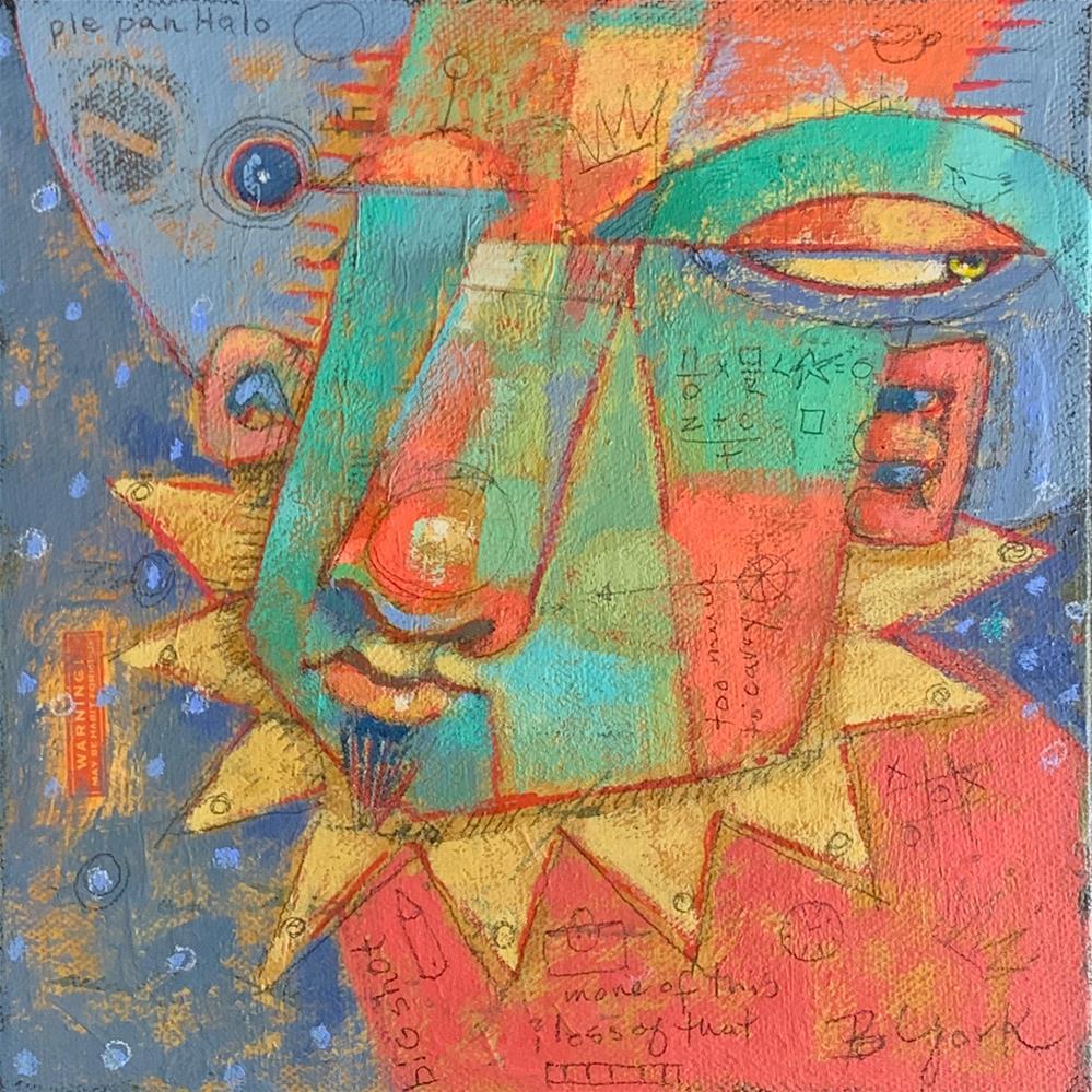 """Ruben, Angel Of Way Too Much Emotional Baggage"" original fine art by Brenda York"