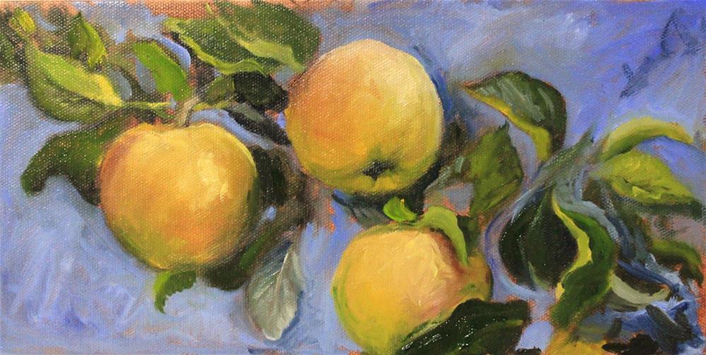 """Golden delicious (sketch)"" original fine art by Marco Vazquez"