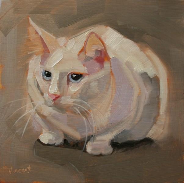 """""""That Cat"""" original fine art by Patti Vincent"""
