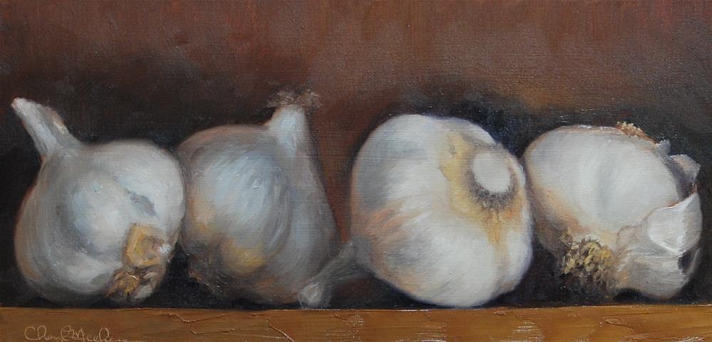 """Garlic"" original fine art by Cheryl Meehan"