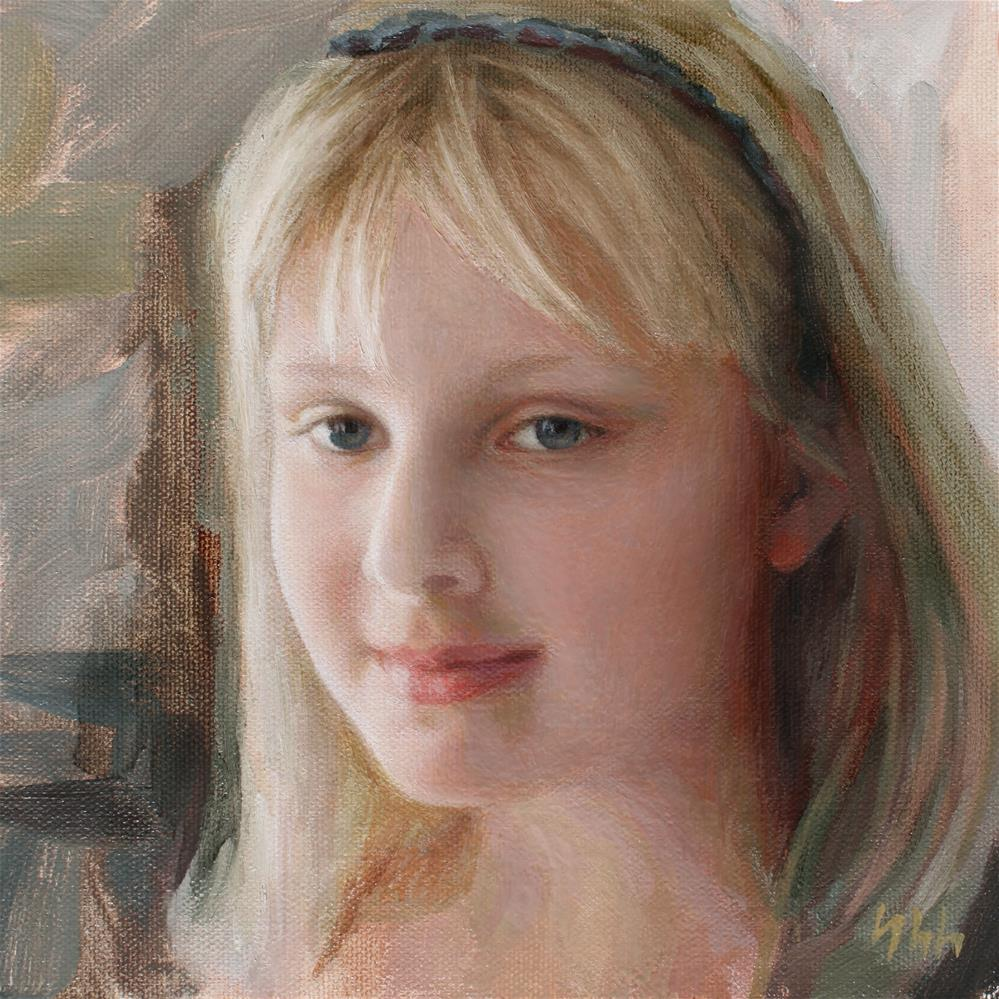 """""""Commissioned Portrait"""" original fine art by Yuehua He"""