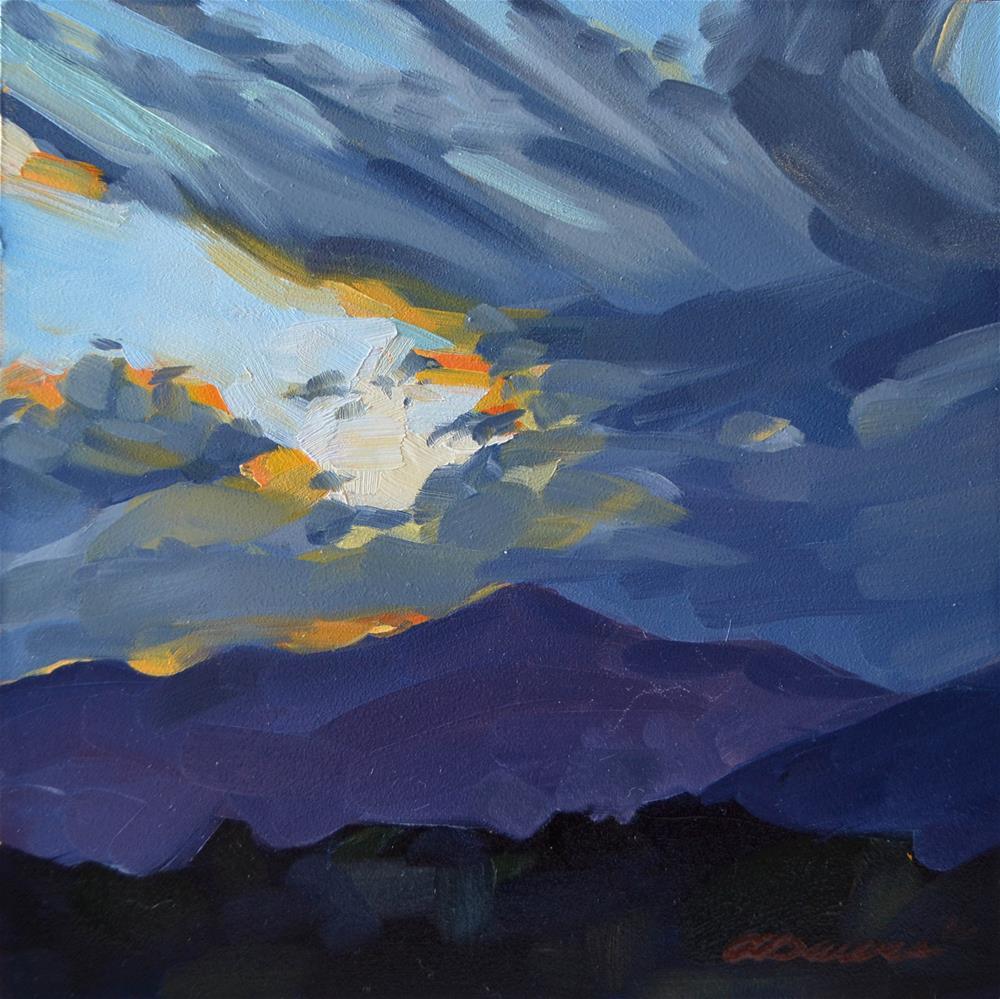 """""""Terpsichorean Sky"""" original fine art by April Dawes"""