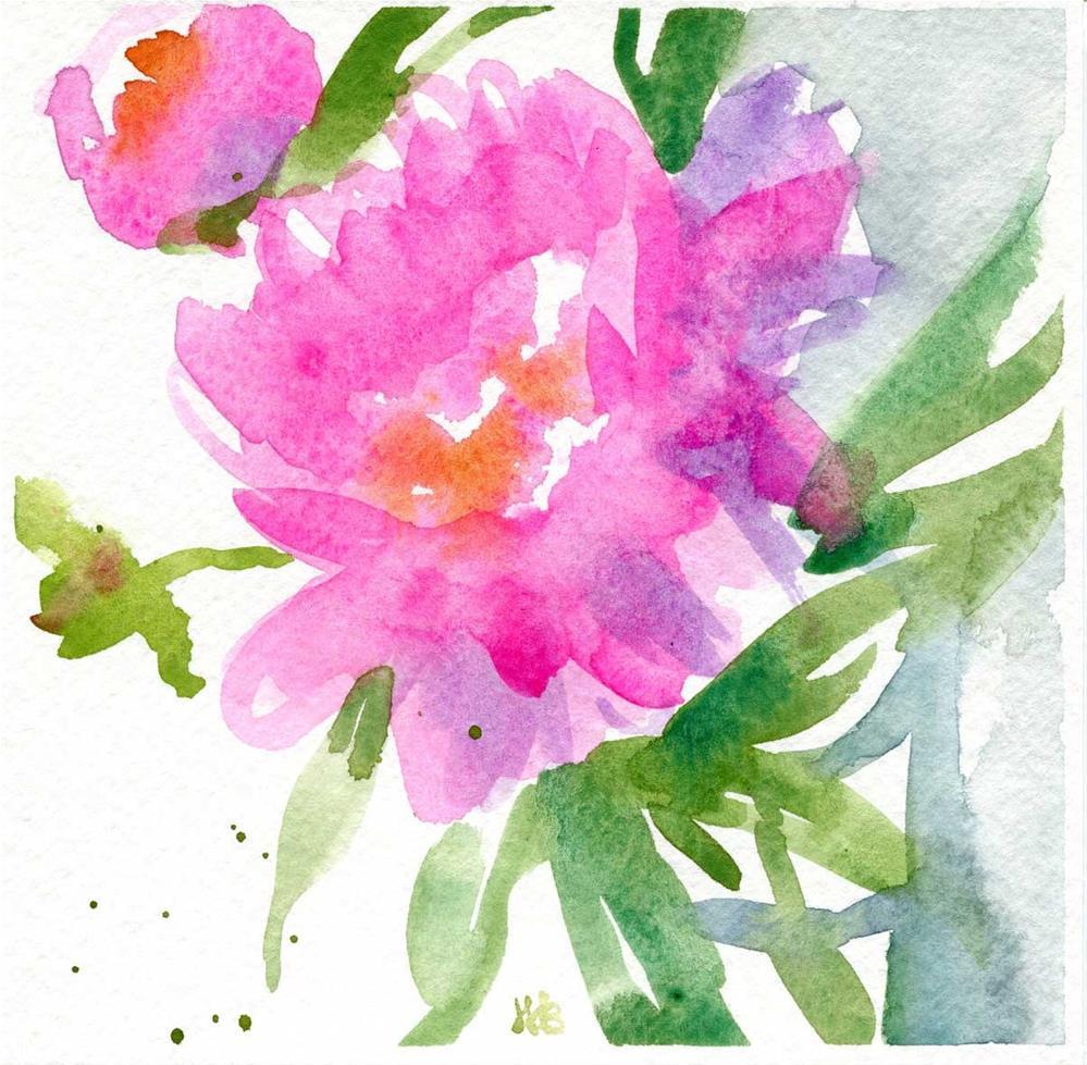 """""""Pink Fluff"""" original fine art by Heather Bennett"""
