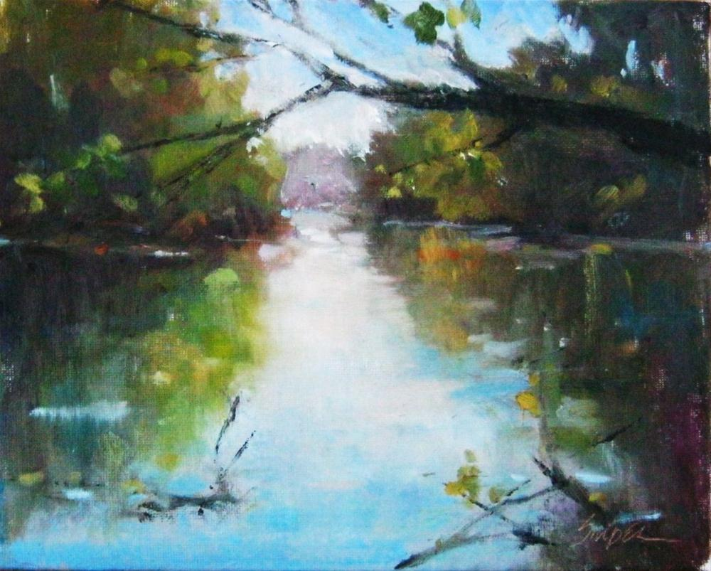"""Afternoon at the Lake"" original fine art by Connie Snipes"