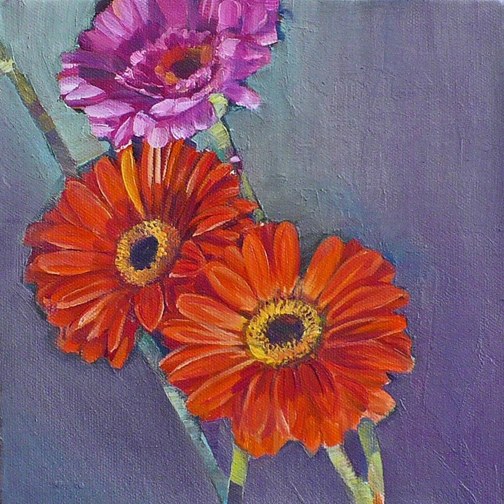 """""""Orange Gerberas"""" original fine art by Nicoletta Baumeister"""