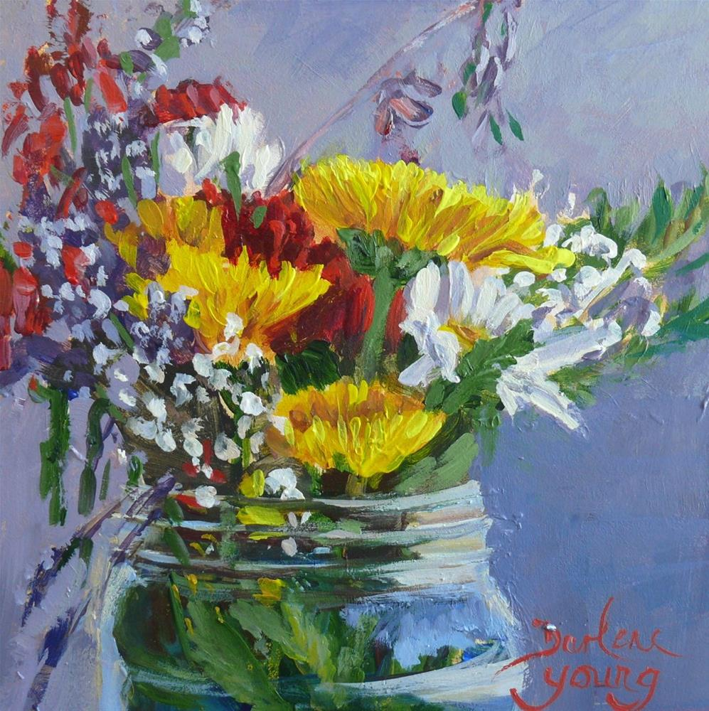 """859 Everlasting Beauties, oil on board, 6x6"" original fine art by Darlene Young"