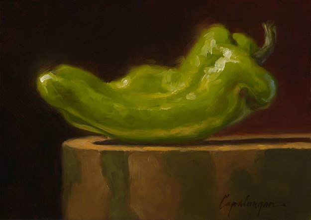"""Cubano Pepper On Sycamore"" original fine art by David Capalungan"
