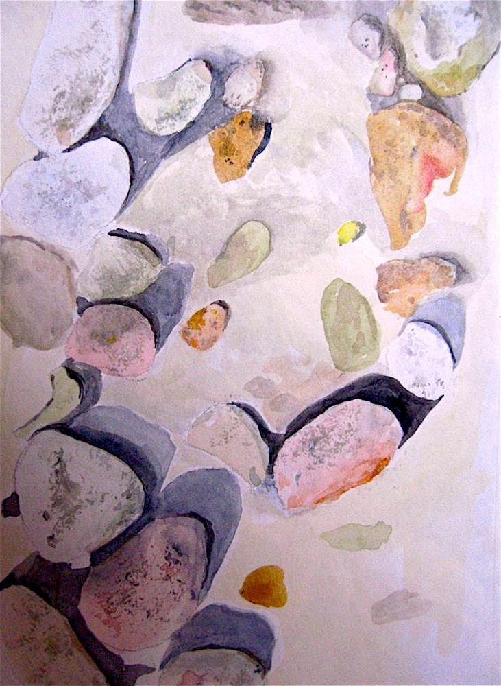 """Low-tide Pebbles"" original fine art by Judith Freeman Clark"