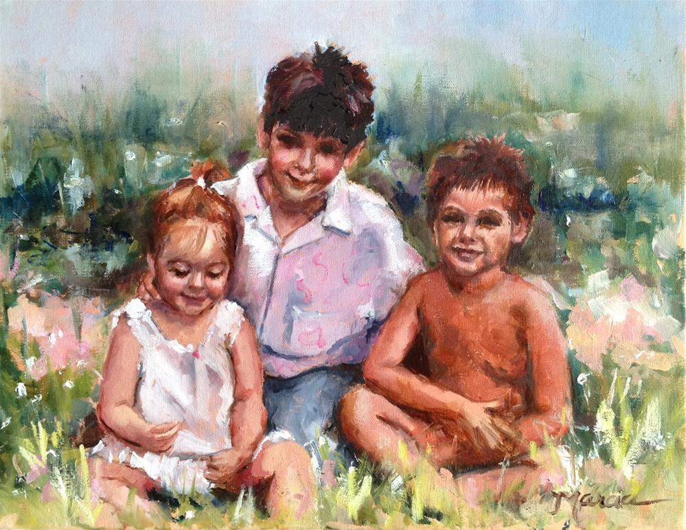 """""""Painting a Portrait - step by step"""" original fine art by Marcia Hodges"""
