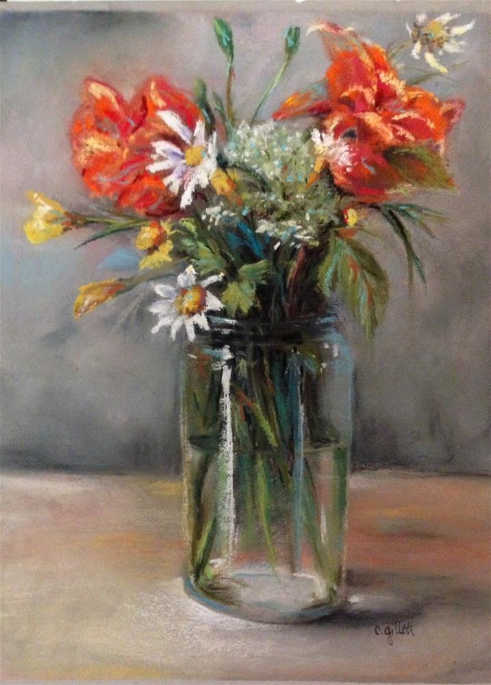 """Wildflowers"" original fine art by Cindy Gillett"