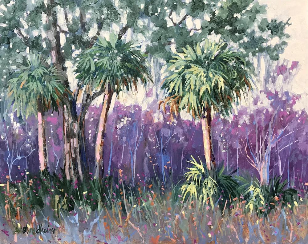 """""""Violet Afternoon"""" original fine art by Linda Blondheim"""