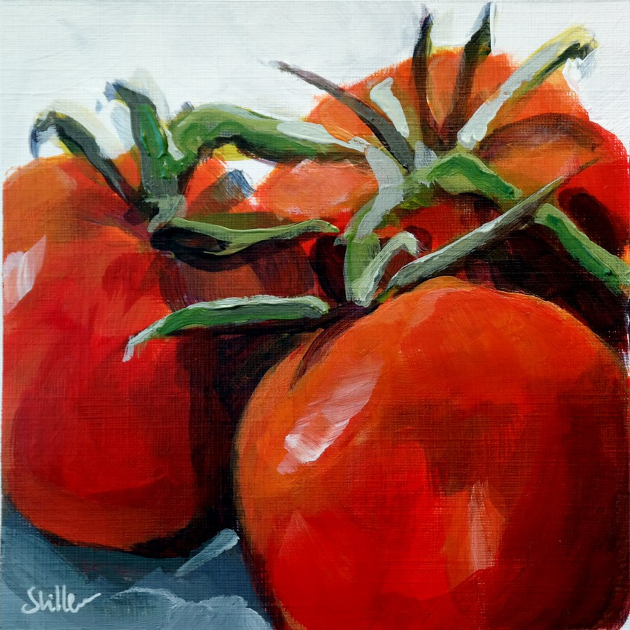 """2022 Tight Dancing Tomatos"" original fine art by Dietmar Stiller"