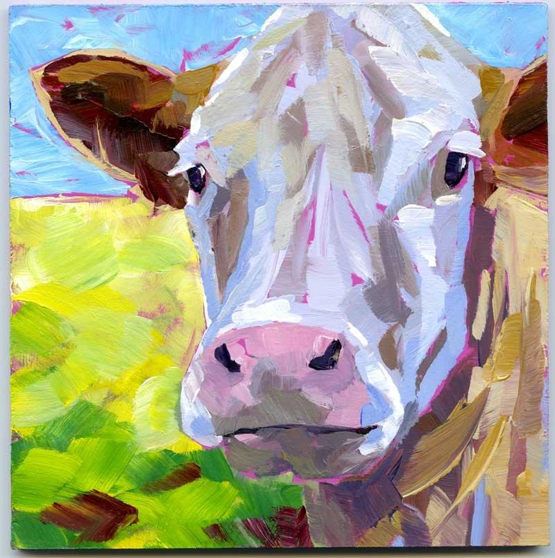 """""""Steer No.1"""" original fine art by Eileen Hennemann"""